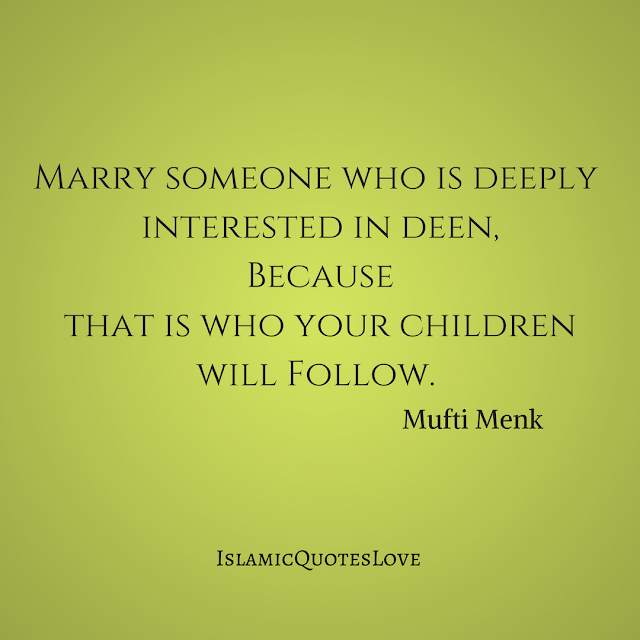 Soo important! That's why you really have to choose your spouse wisely, because he or she will be a role model for your children.. May Allah grant us pious spouses and pious children, Allahumma Ameen!