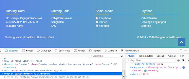 Membuat Warna Background Gradien Menggunakan CSS