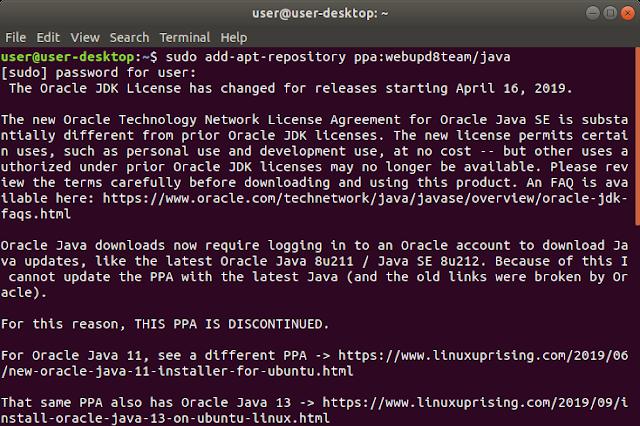 Cara Install Java PPA di Ubuntu Linux