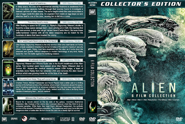 Alien 6 Film Collection DVD Cover