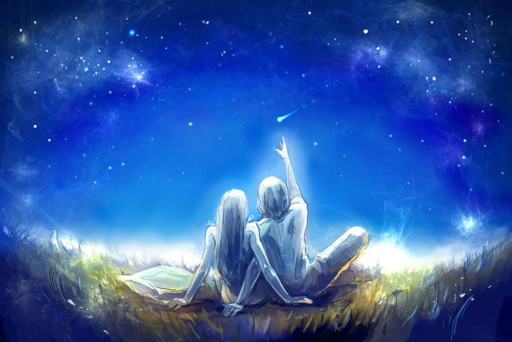 Открытки космос и любовь
