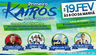 Comunidade de Santa Luzia de lagoa do Padre realiza o 1º kairós neste dia 19 de fevereiro em Riachão do Poço