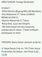 Loker Surabaya di Toko Kasur Dreamstar Juli 2021