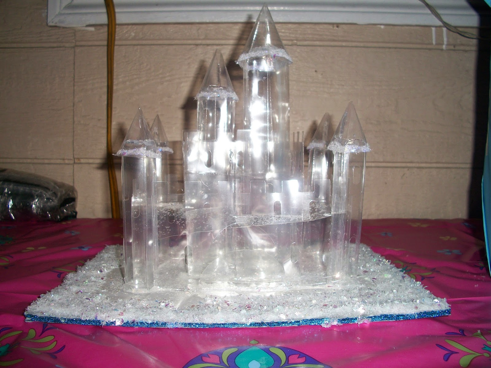"DIY Elsa's ""Ice"" castle for a Frozen themed birthday party."