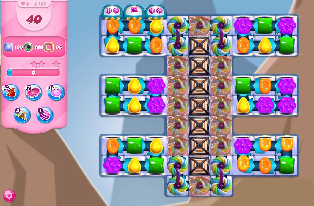Candy Crush Saga level 9107