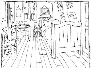 Ciao bambini: Coloring van Gogh La camera da letto