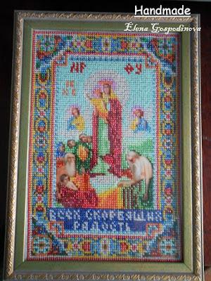 икона купить, икона бисером, икона божией матери, икона всех скорбящих радость купить