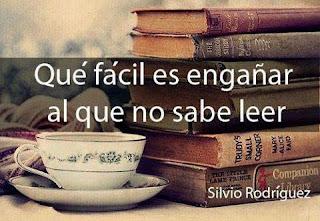 Meme sobre la lectura con Silvio Rodríguez y su Canción en harapos