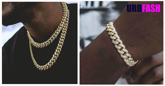 Diamond Cuban Link Choker & Bracelet in Yellow Gold