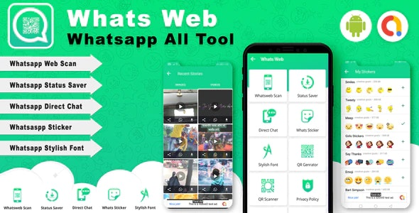 Android Whats Web v2.0 - Whatsapp all tools App