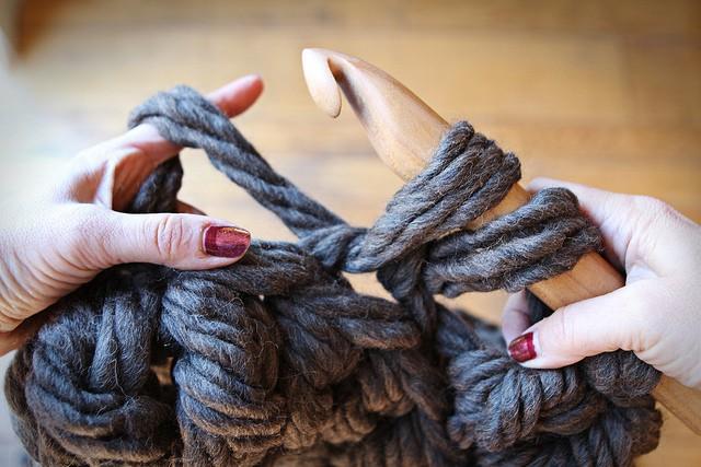 Jumbo Crochet Hook Green With Envy