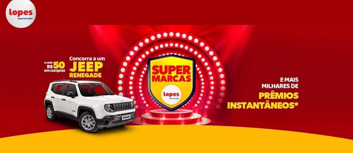 Cadastrar Promoção Lopes 2020 Super Marcas Jeep Renegade e Prêmios Na Hora