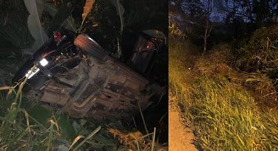 UBATÃ: Motorista perde controle em curva e capota veículo na BR-330