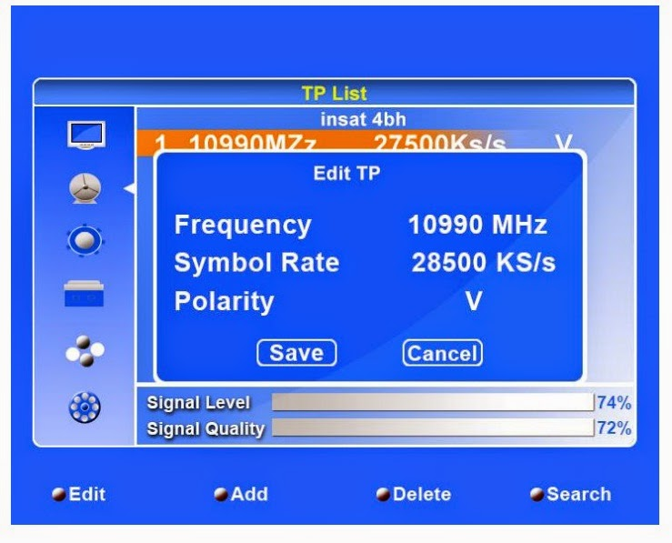 New Frequency Details of dd direct dth (DD Direct Plus)