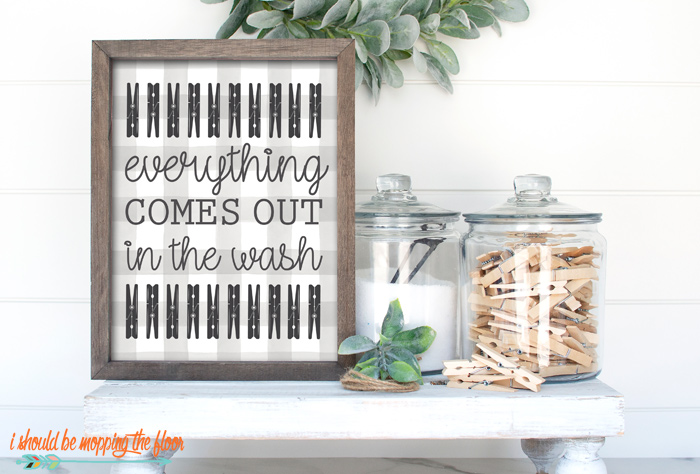 Everything Comes Out in the Wash Printable