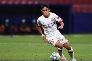 Osasuna contact Real Madrid over midfielder Takefusa Kubo