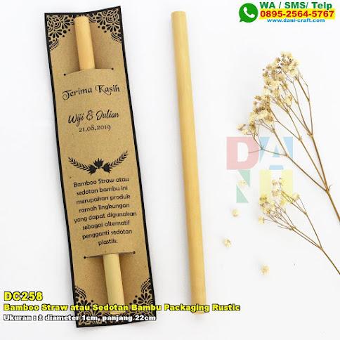 Bamboo Straw Atau Sedotan Bambu Packaging Rustic