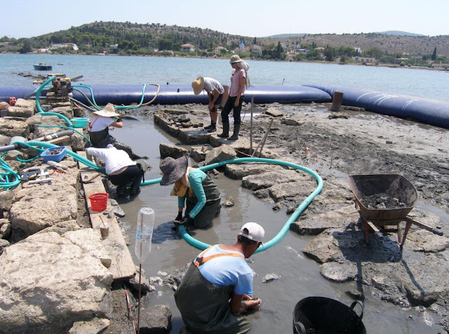 New finds from underwater research on Greek island of Salamis