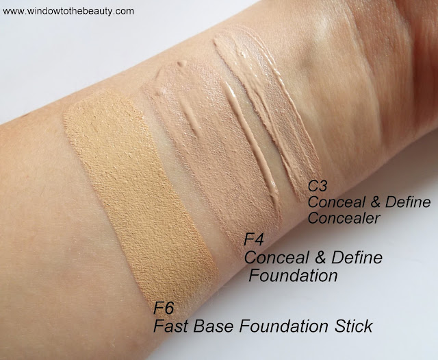 revolution Conceal & Define swatches