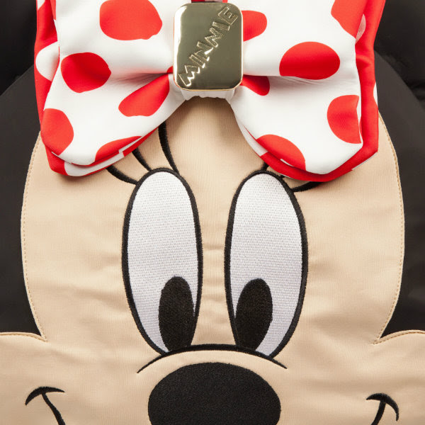 irregular choice disney minnie mouse face bag detail