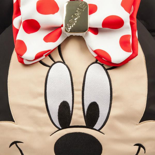 irregular choice disney minnie mouse face bag detail