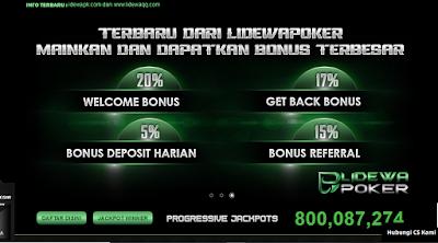 Mainkan Game Poker Online Dan Dapatkan Bonus Besar Di Lidewapoker