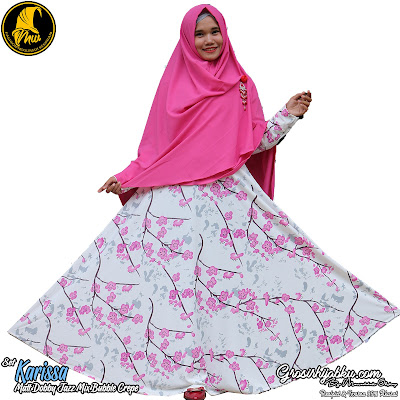 Gamis Set Doby Jazz Mix Diamond Crepe Khimar Model Simple