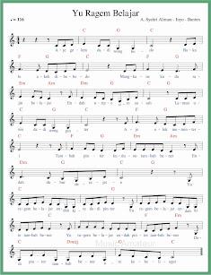 not balok lagu yu ragem belajar lagu daerah banten