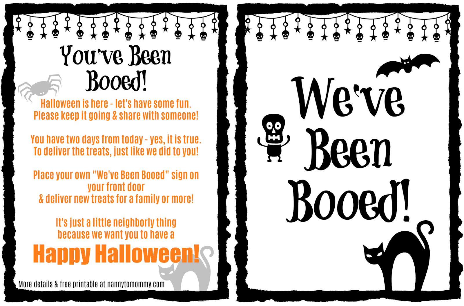 You Ve Been Booed Halloween Sharing Treats Nanny To Mommy