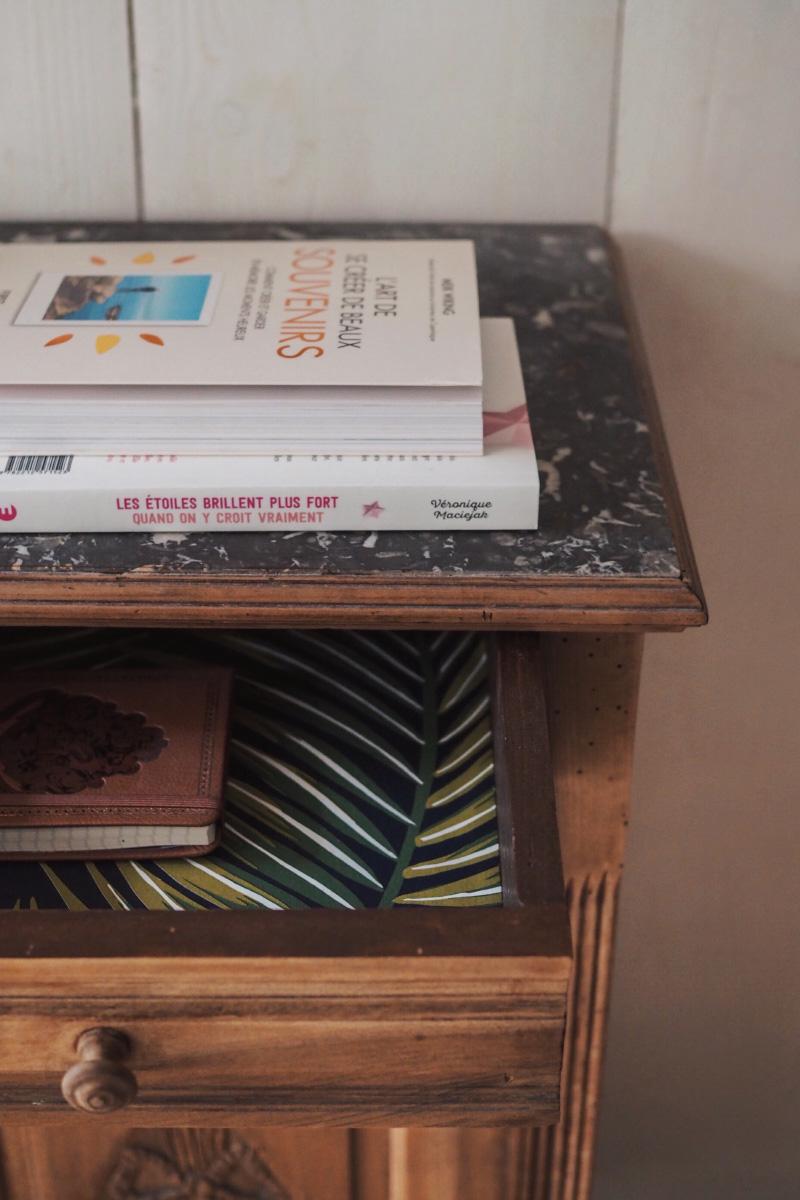 Do-it-yourself : habiller l'intérieur de ses tiroirs avec de la tapisserie