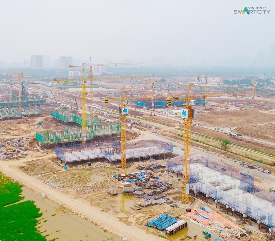 Cập nhật tiến độ dự án Vinhomes Smart City Tây Mỗ tháng 4/2019