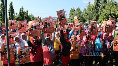 Adakan Sosialisasi Di Kecamatan Pituruh, Bawaslu Kabupaten Purworejo Gelar Senam Sehat Bersama Kaum Perempuan