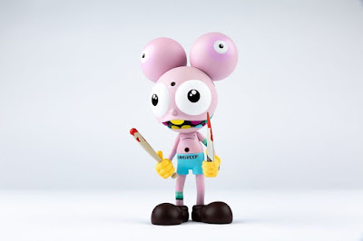 UNheardof Exclusive Space Monkey Pink Edition Vinyl Figure & Screen Print by Dalek x UVD Toys