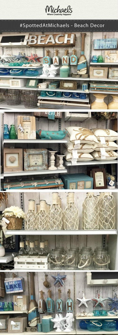 Coastal Beach Crafts and Decor at Michaels