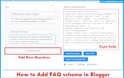 How to Add FAQ schema in Blogger