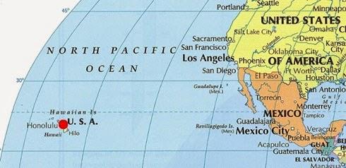 Hawai Amerika Mesafe Haritası