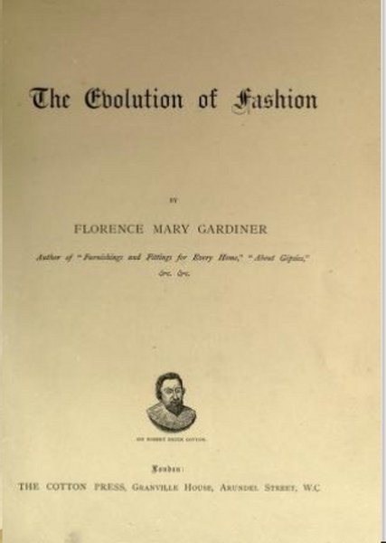 The Evolution of Fashion Book by Florence Mary Gardiner in Pdf