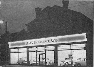Halls (Finchley) Limited illuminated showrooms