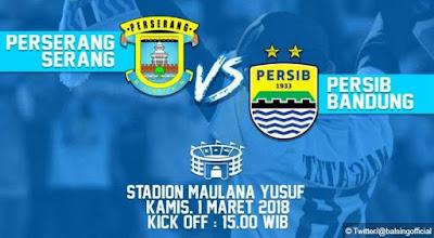 Perserang Serang vs Persib Bandung - Uji Coba Kamis