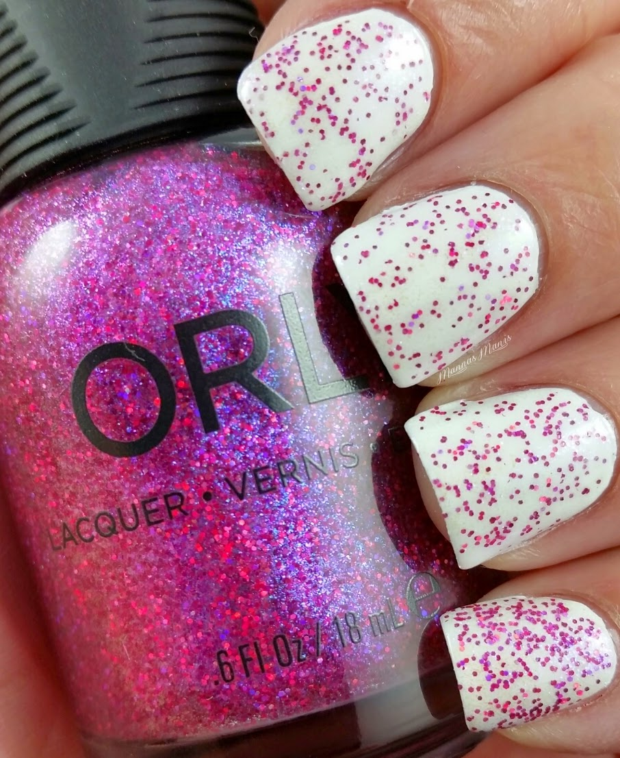orly explosion of fun, a purple glitter topper nail polish