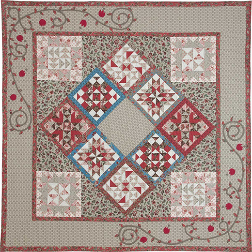 Parisian Grace Quilt-Along by Laura Stone Roberts.