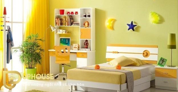 Phòng ngủ màu vàng nhạt 06
