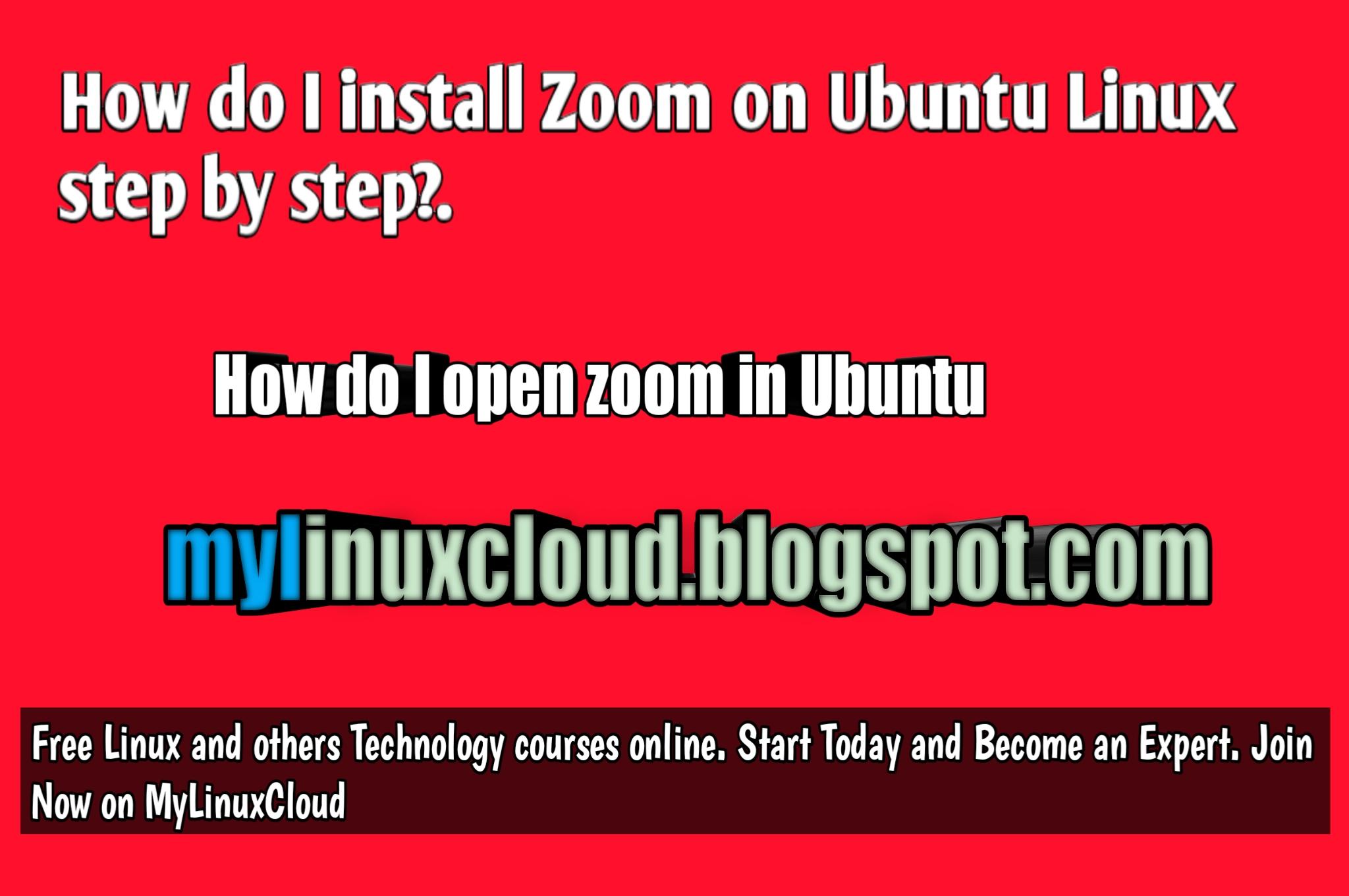 How do I install Zoom on Ubuntu - MyLinuxHub