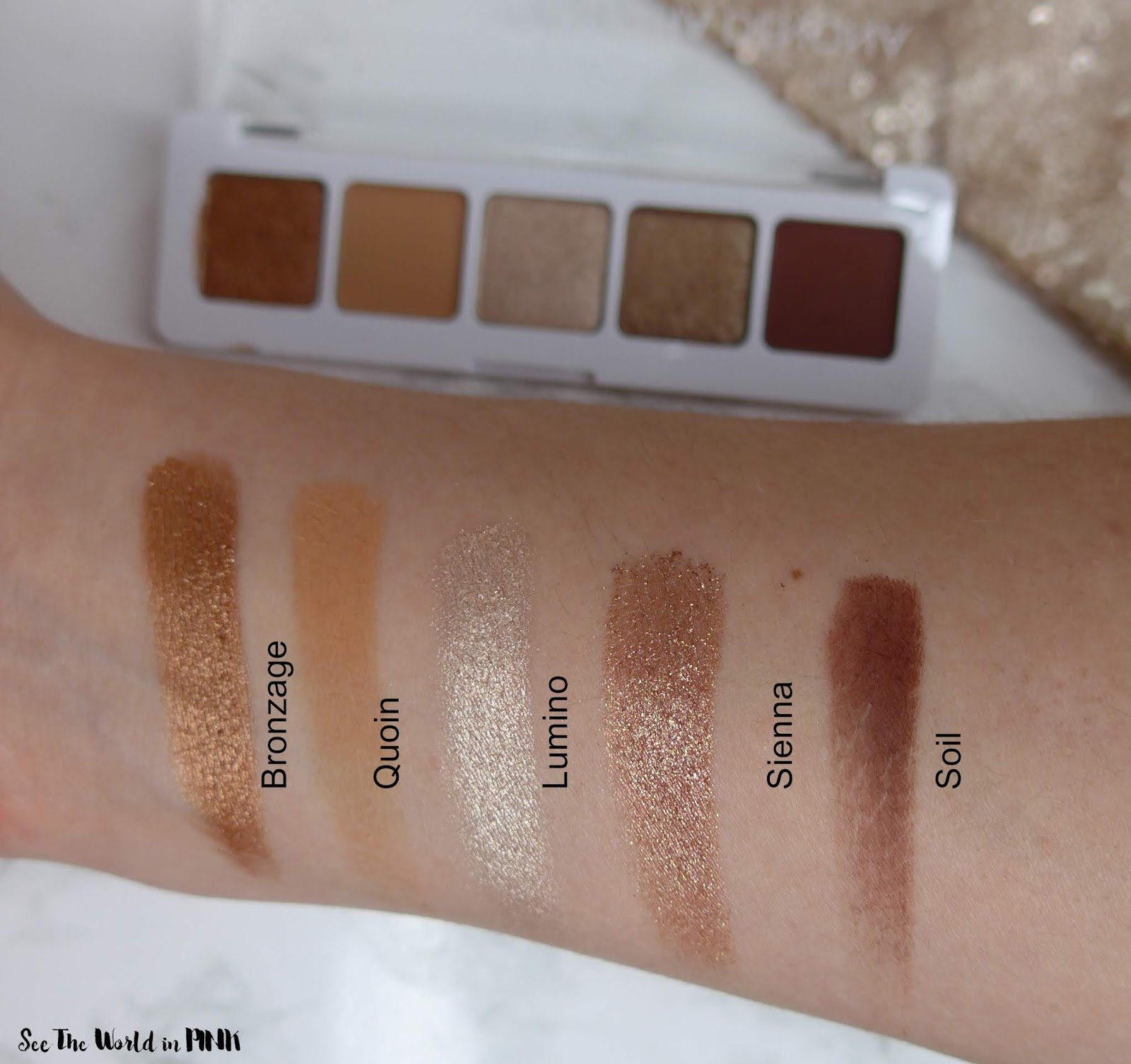 Nude Look Natasha Denona Mini Nude Eyeshadow Palette - Swatches, Review And Look! | See The World In Pink