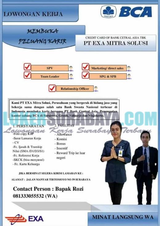 Kantor Cabang Bca Surabaya : kantor, cabang, surabaya, Karir, Surabaya, Terbaru, Mitra, Solusi, (BCA), Lowongan, Kerja, Januari, Timur