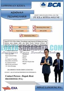 Karir Surabaya Terbaru di PT. Exa Mitra Solusi (BCA) Juni 2019