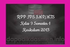 RPP IPS SMP MTs Kelas 9 Semester 1 Kurikulum 2013 Revisi Terbaru 2019-2020