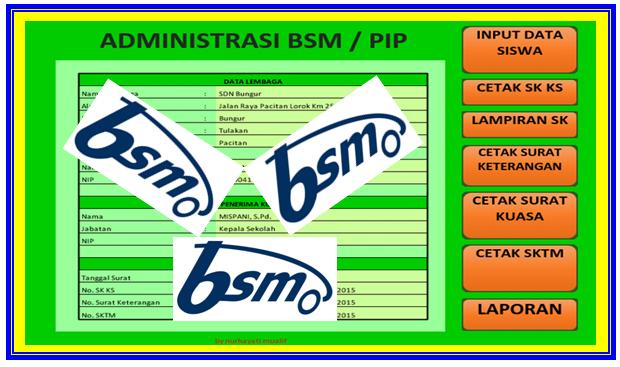 Download Aplikasi Pembuat Administrasi Pencairan BSM Terbaru