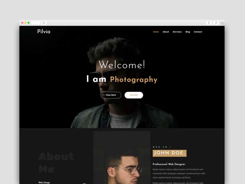portfolio template for blogger