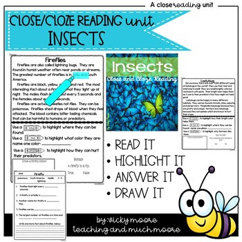 Close reading insects - use in Seesaw